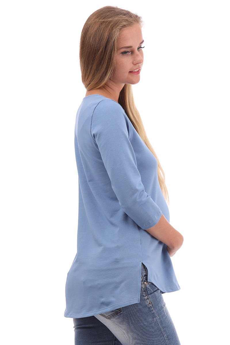Блузка 09955 голубой