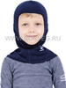 NORVEG SOFT детская шлем-маска с шерстью мериносов синяя