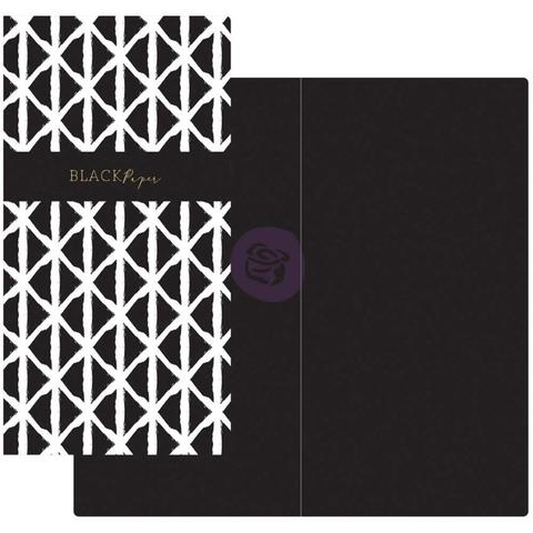 Внутренний блок для блокнотов -Prima Traveler's Journal Notebook Refill - Black & White W/Black Paper