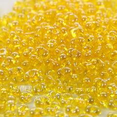 86010/ Бисер Preciosa Фарфаль (Farfalle) 4х2 мм прозрачный блестящий желтый