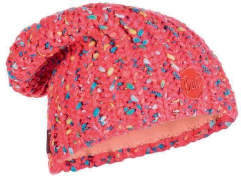 Вязаная шапка с флисовой подкладкой Buff Hat Knitted Polar Yssik Pink Fluor
