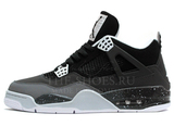 Кроссовки Мужские Nike Air Jordan 4 Retro Black Grey White