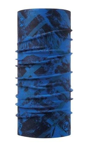 Бандана-труба тонкая зимняя Buff Thermonet Mountain Top Cape Blue