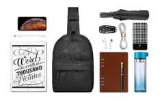 Рюкзак однолямочный WiWU Vigor чёрный камуфляж