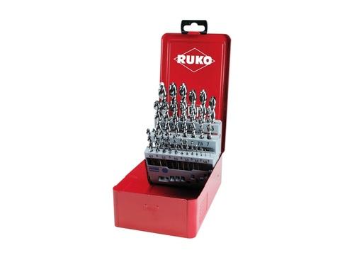 Набор сверл по металлу 1-13мм 25шт DIN338 (UTL3000) HSSE-Co5 Ruko 229215