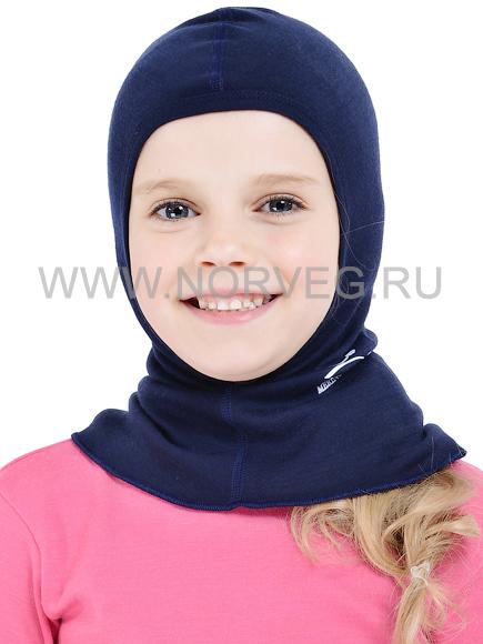 Шлем-маска с шерстью мериноса Norveg Soft 12WU-013 синяя - Интернет-магазин  Five-Sport.ru