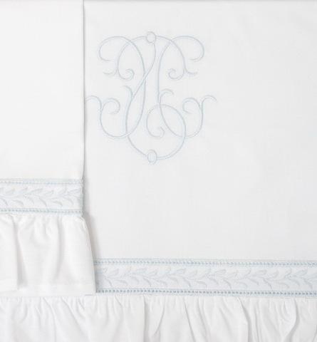Чехол для бампера 195х45 Bovi Вензель бело-голубой