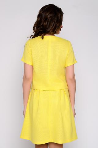 Элегантный костюм, состоящий из шикарной юбки на подкладе с бантовыми складками и удобными карманами, а так же блузки прямого силуэта. (Длина блузы: 44-46=51см; 48=53см; 50=55см; Длина юбки: 44-46=53см; 48-50=58см;)
