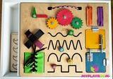 Крышка-бизиборд для домашней песочницы 1