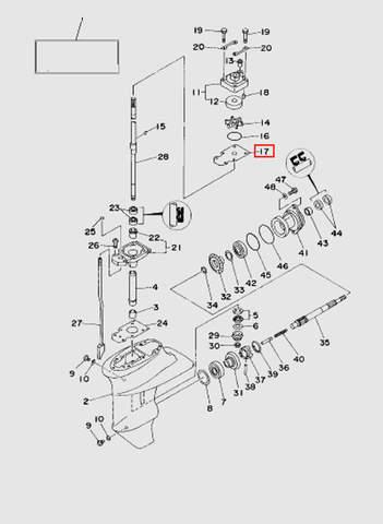 Пластина помпы  для лодочного мотора T15, OTH 9,9 SEA-PRO (16-17)