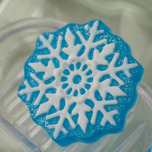 Мыло Снежинка. Пластиковая форма