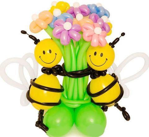 Букет цветов Счастливые пчёлки