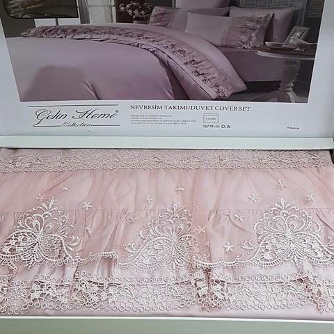 Постельное белье Gelin Home MILANO RIHANNA крем, шампань, гр-розовый евро