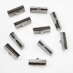 Концевик для лент 20 мм (цвет - черный никель), 10 штук