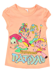 D002-14 футболка для девочек, персиковая