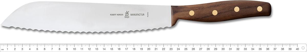 Нож для хлеба Windmuhlenmesser Grandmoulin, 240 мм (грецкий орех)