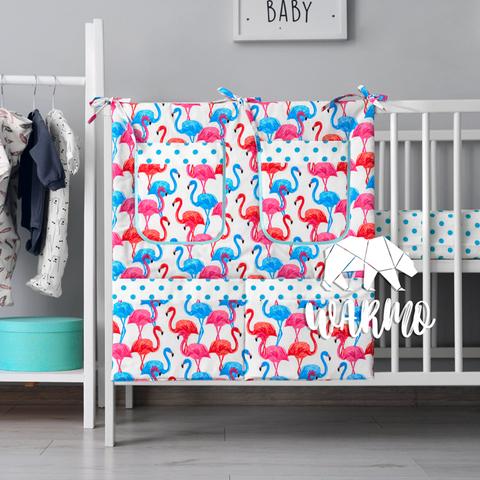 органайзер для ліжечка з різнокольоровими фламінго фото