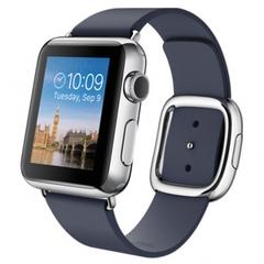 Часы Apple Watch 38мм (темно-синий кожаный с современной пряжкой)