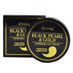 Esthetic House Black Pearl & Gold Hydrogel Eye Patch - Гидрогелевые патчи с черным жемчугом и золотом