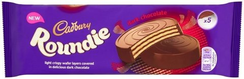Шоколадные вафли 150 гр Cadbury Roundies Wafer Dark темный шоколад