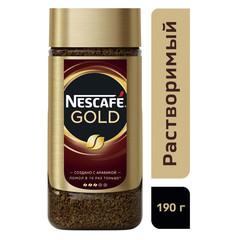 Кофе Nescafe Gold раств.субл.190г стекло