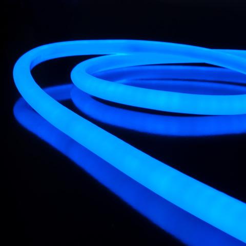 Комплект  гибкого неона круглого синего 10 м 9,6 Вт/м 144 LED 2835 IP67 16 мм LS003 220V