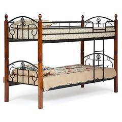 Кровать двухярусная Болеро (200x90) Черный/Красный дуб