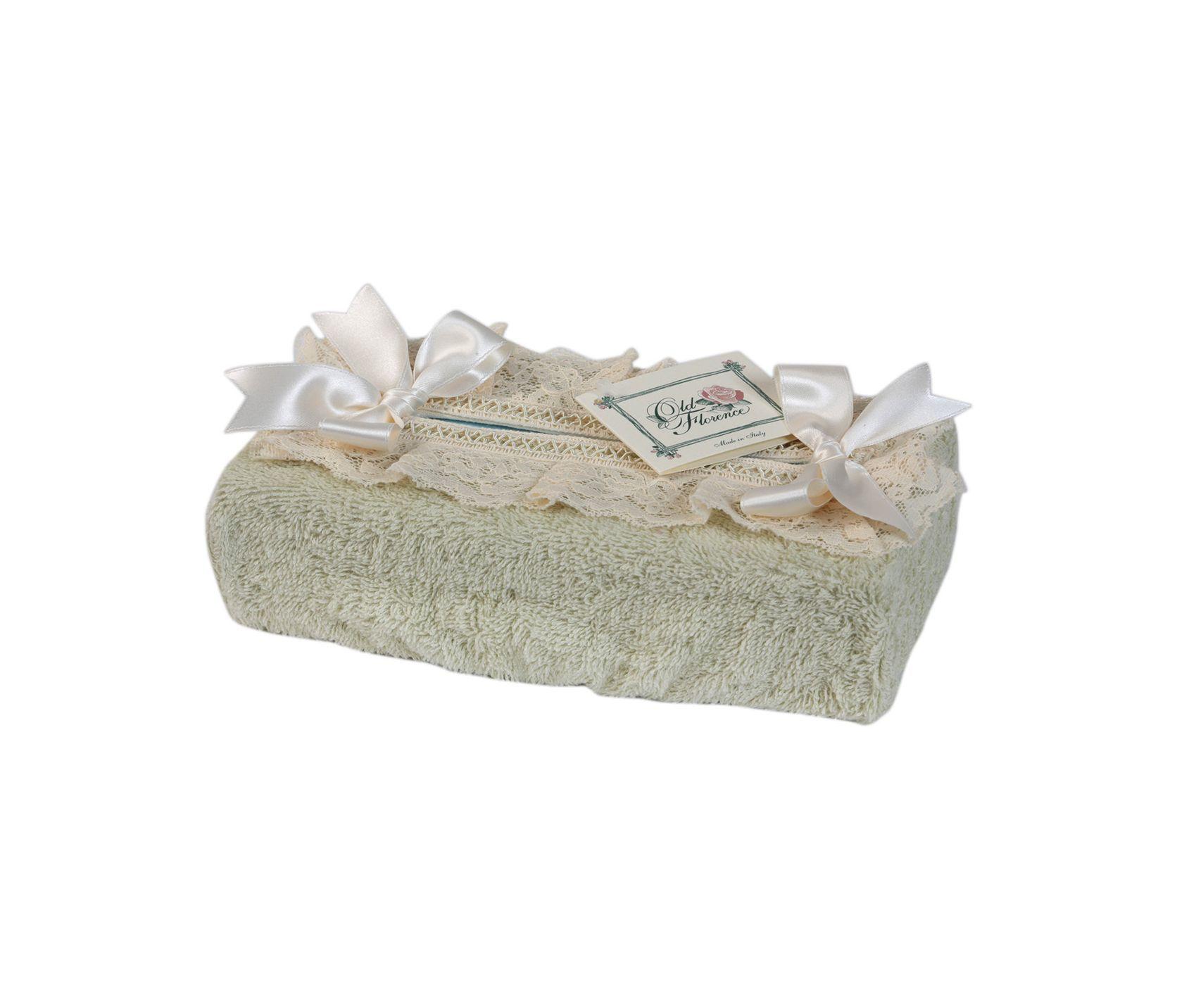 Салфетница для бумажных полотенец Валансье зеленая от Old Florence