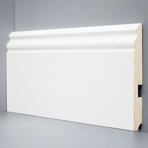 Белый ламинированный плинтус DEARTIO U105-150