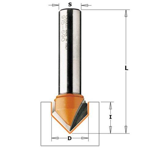 Фреза пазовая c углом 90 градусов. S=8 D=12,7x12,7