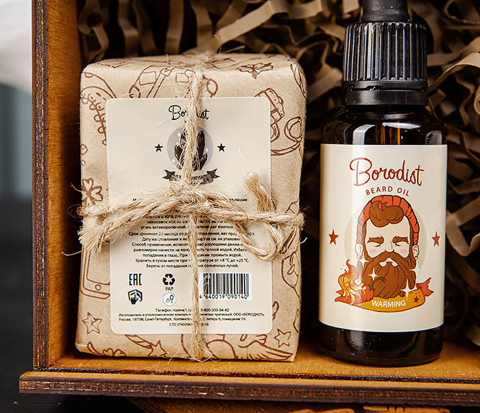 Набор средств «Borodist» для ухода за бородой, телом и волосами фото 04