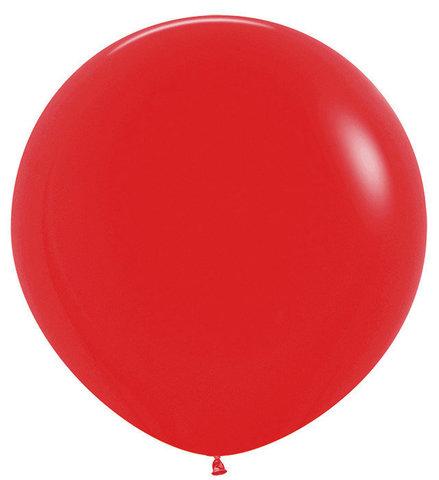 Шар (30''/76 см) Красный (015), пастель