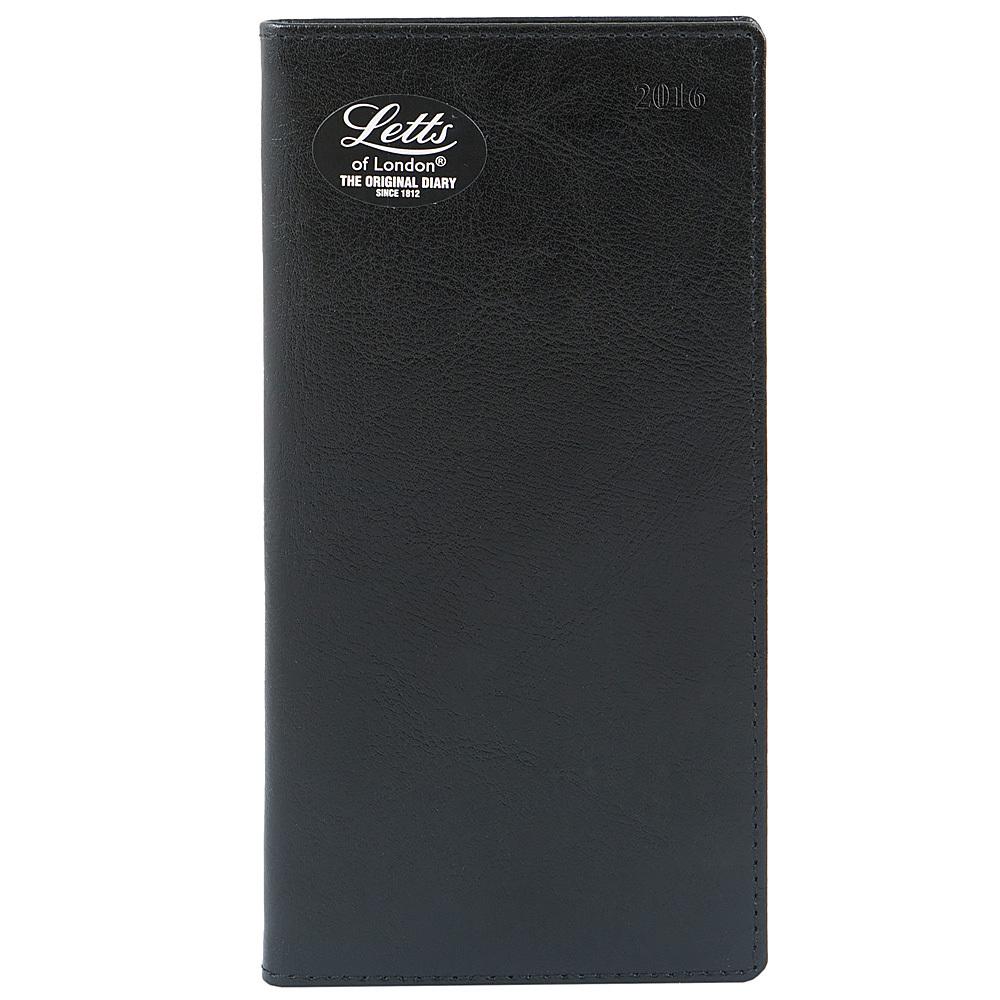 Еженедельник Letts Global Deluxe Ibiza 2017, A6 (105 х 148), черный, натур.кожа, срез позолоченный