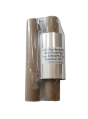 Красящая лента 64мм х 74м х 12мм, Wax OUT (втулка 110 мм с прорезями) с доп. втулкой