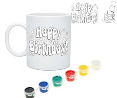 "019_2698 Кружка-раскраска ""Happy Birthday"""