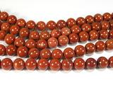 Нить бусин из яшмы красной, шар гладкий 10мм