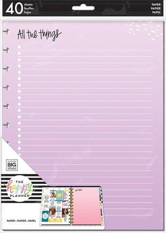 Дополнительный блок  для ежедневника Happy Planner Big -Colored Fill Paper 2 - BIG - 40 л