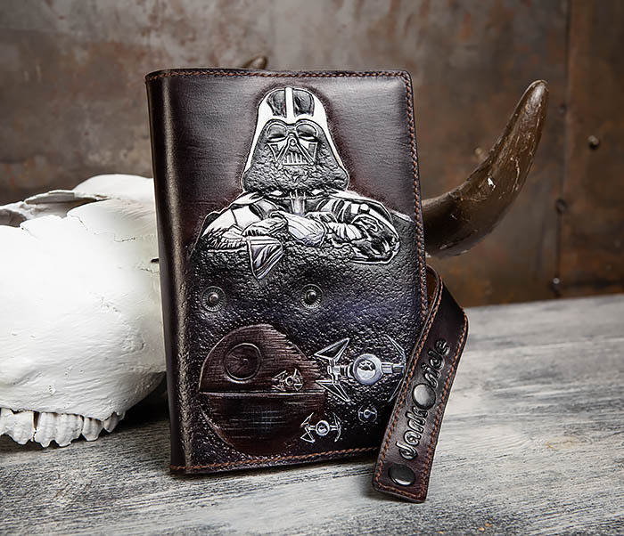 BC203 Кожаный ежедневник «Dark Side» ручной работы (A5) фото 11