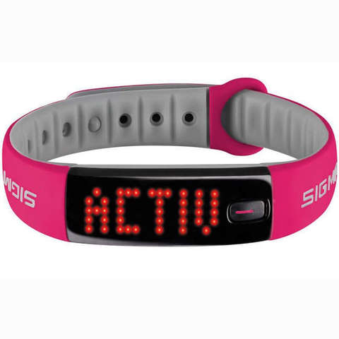 Купить Фитнес-браслет Sigma Sport Activo 22912 (Berry-Pink) по доступной цене