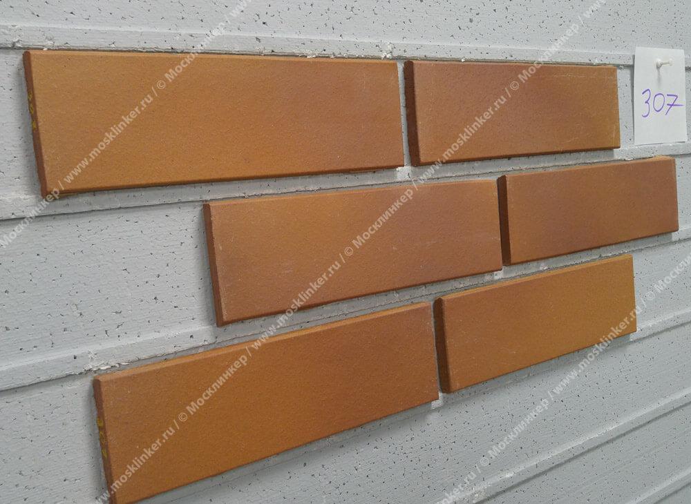 Stroeher, фасадная клинкерная плитка, цвет 307 weizengelb, серия Keravette, unglasiert, неглазурованная, гладкая, 240x52x8
