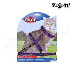 Trixie шлейка и поводок Звезды, нейлон, фиолетовый