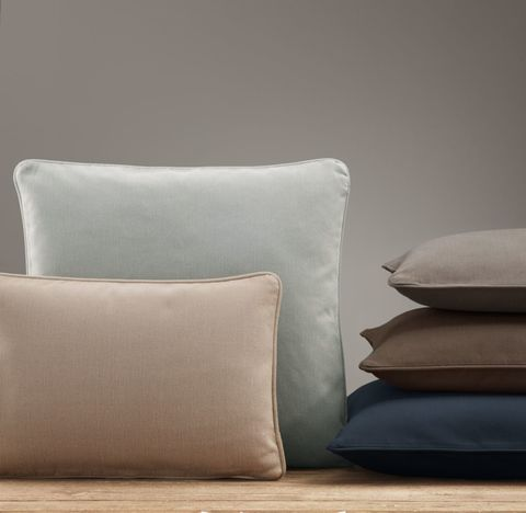 Custom Brushed Cotton Twill Piped Pillow Cover
