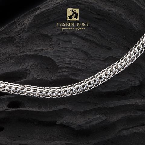 Серебряная цепочка мужская на шею. Фараон