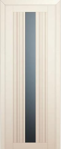 Дверь Profil Doors № 53 U, стекло графит, цвет магнолия сатинат, остекленная