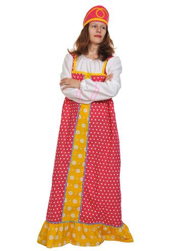 Карнавальный костюм взрослый Аленушка ( малиновый)