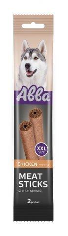 Abba Лакомство для собак мясные палочки с курицей (2шт.XXL) 1 уп - 180гр