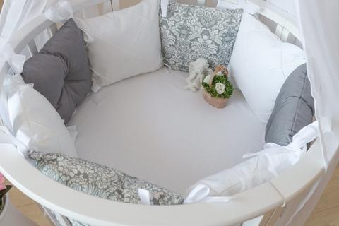 Комплект в круглую/овальную кроватки Сумерки