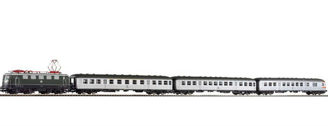 Piko 58113 Электровоз S-Bahn Zug BR 141 и 3 пассажирских вагонаSilberling Bn + ABn + BDnf, 1:87