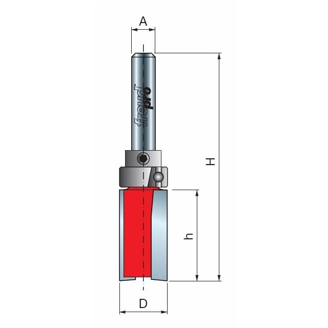 Фреза прямая с верхним подшипником 22 х 20,0 мм, L=60,0 мм хвостовик 8мм Freud 5010808