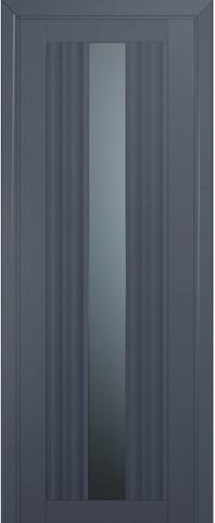 Дверь Profil Doors № 53 U, стекло графит, цвет антрацит, остекленная